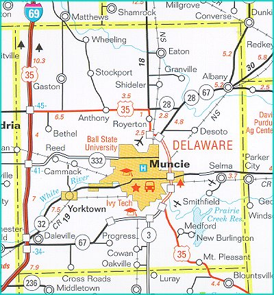 Indiana Delaware County Every County