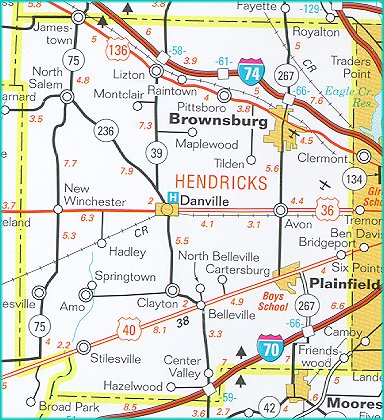 Danville Indiana Map Danville « Every County